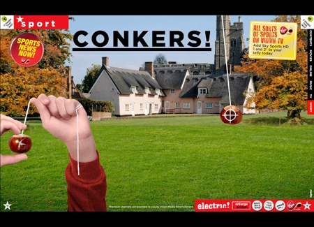 Conkers game - Virgin electric!