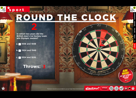 Darts game - Virgin electric!