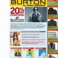 Burtons advertorial for Maxim Magazine