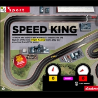 Slot racing car game