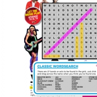 Musical word search