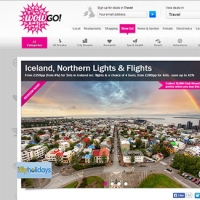 WowGo travel section for wowcher